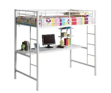 Walker Edison Loft Bed w/ Desk