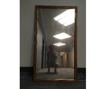 Large Antique Wood Mirror