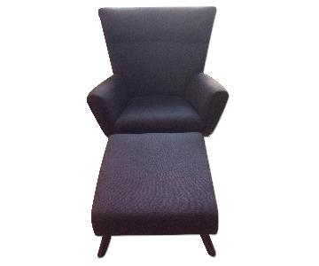 Room & Board Boden Chair & Ottoman