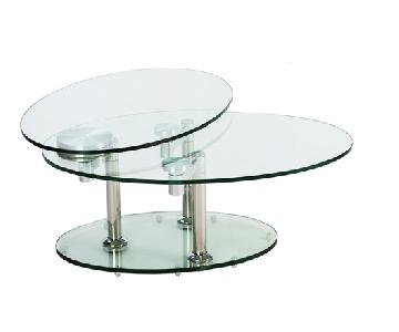 Hanson Glass Oval Coffee Table
