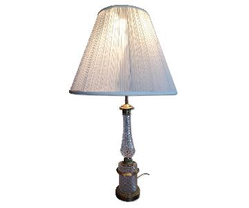 Bacarat Crystal Antique Table Lamps