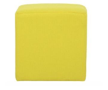 EQ3 Rubix Ottoman in Yellow Fabric