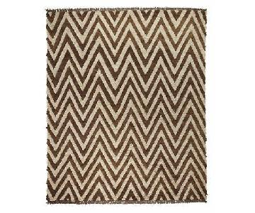 Room & Board Hand Knotted Wool Chevron Bokila Rug