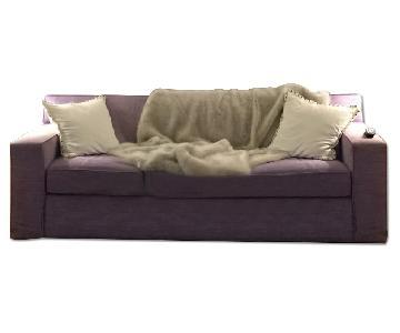 Avery Boardman Custom Linen Queen Sleeper Sofa