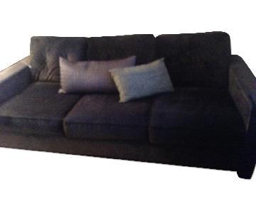 Highpoint Furniture Modern Blue-Grey Sofa
