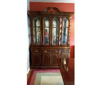 Classic Breakfront China Cabinet - Cherry