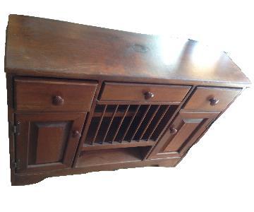 Vintage Small Wood Dresser/Sideboard