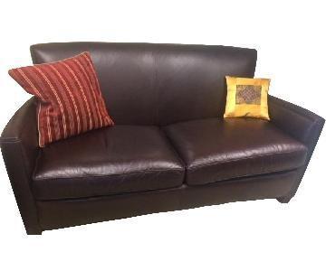 Crate & Barrel Huntington Leather Sofa