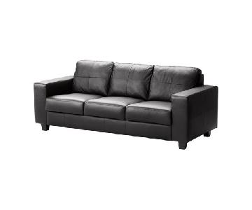 Ikea Skogaby Black 3 Seater Couch