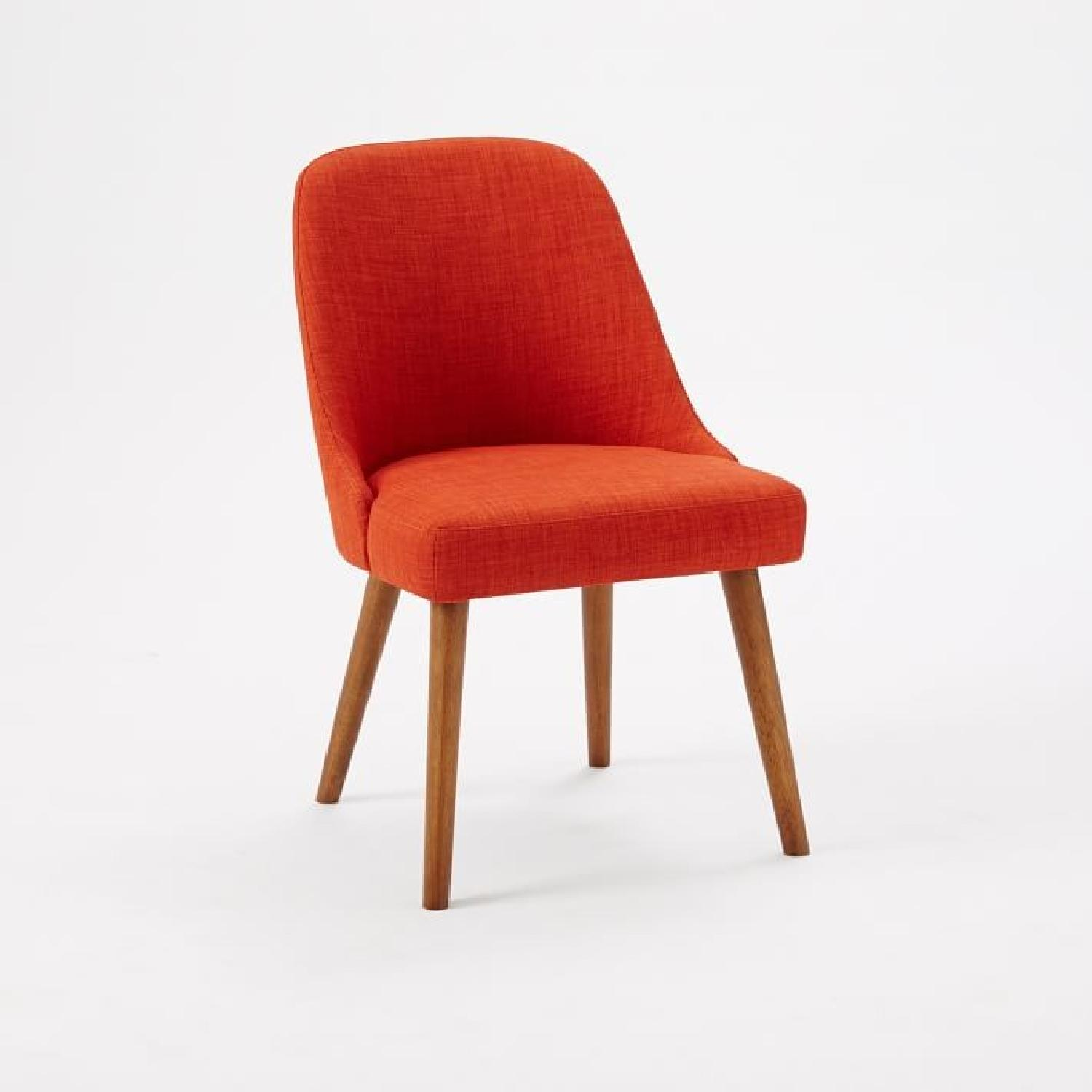 west elm mid-century upholstered dining chairs - aptdeco