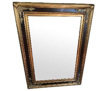 Large Custom Gilded Orante Framed Mirror