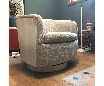 Milo Baughman Vintage Mid-Century Tilt Swivel Club Chair