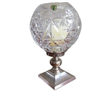 Waterford Hurricane Lamp with Metal Base - Star of Hope