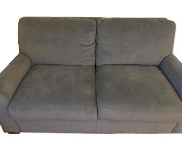 Scott Jordan Furniture Luxe Sleeper Sofa in Steel Grey