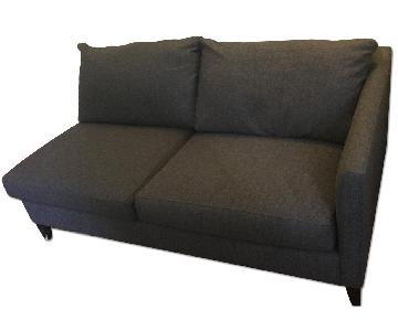 Crate & Barrel Sectional 2 Seat Sofa