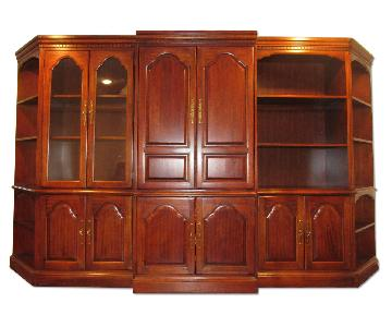 Hooker Furniture Wall Unit/Entertainment Center w/ Bookcases