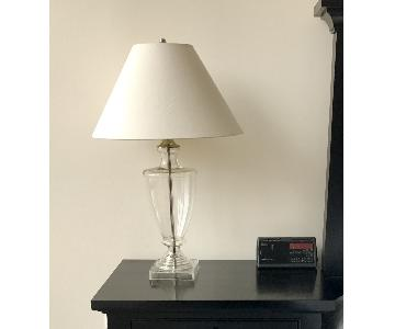 Restoration Hardware Table Lamps w/ Slope Linen Shades