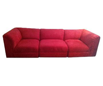 Maurice Villency Furniture 3 Piece Sectional Sofa