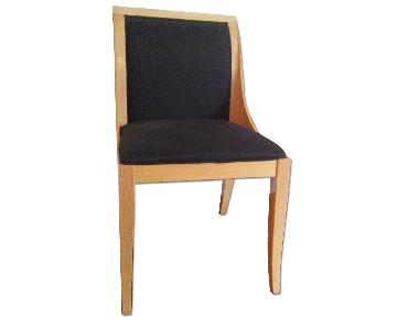 Costantini Pietro Lacquered Beech Black Upholstered Chairs