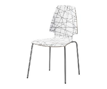 Ikea Vilmar Srtiped Chrome Plated Chairs