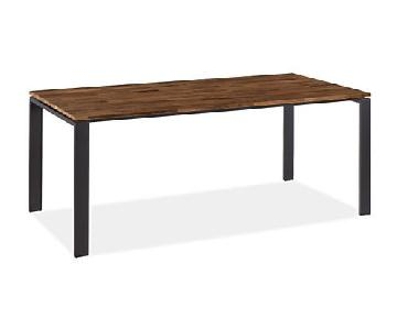 Room & Board Rand Table in Natural Steel