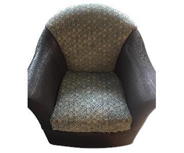 Teal & Black Barrel Chairs