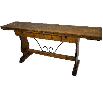 Swiss Alpine Hunter Lodge Folding Dining Table