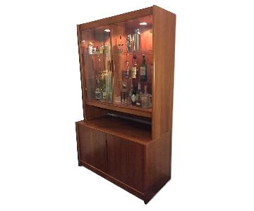 Light-Up Glass-Front Cabinet w/ Storage