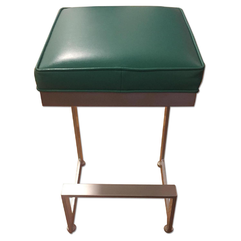johnston casuals furniture teal leather bar stools  aptdeco - johnston casuals furniture teal leather bar stools