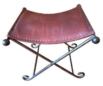 F.O. Merz & Co., Inc. Leather & Iron Folding Seats