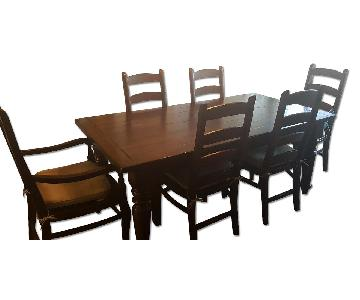 Pottery Barn Sumner Extending Table w/ 7 Wynn Chairs
