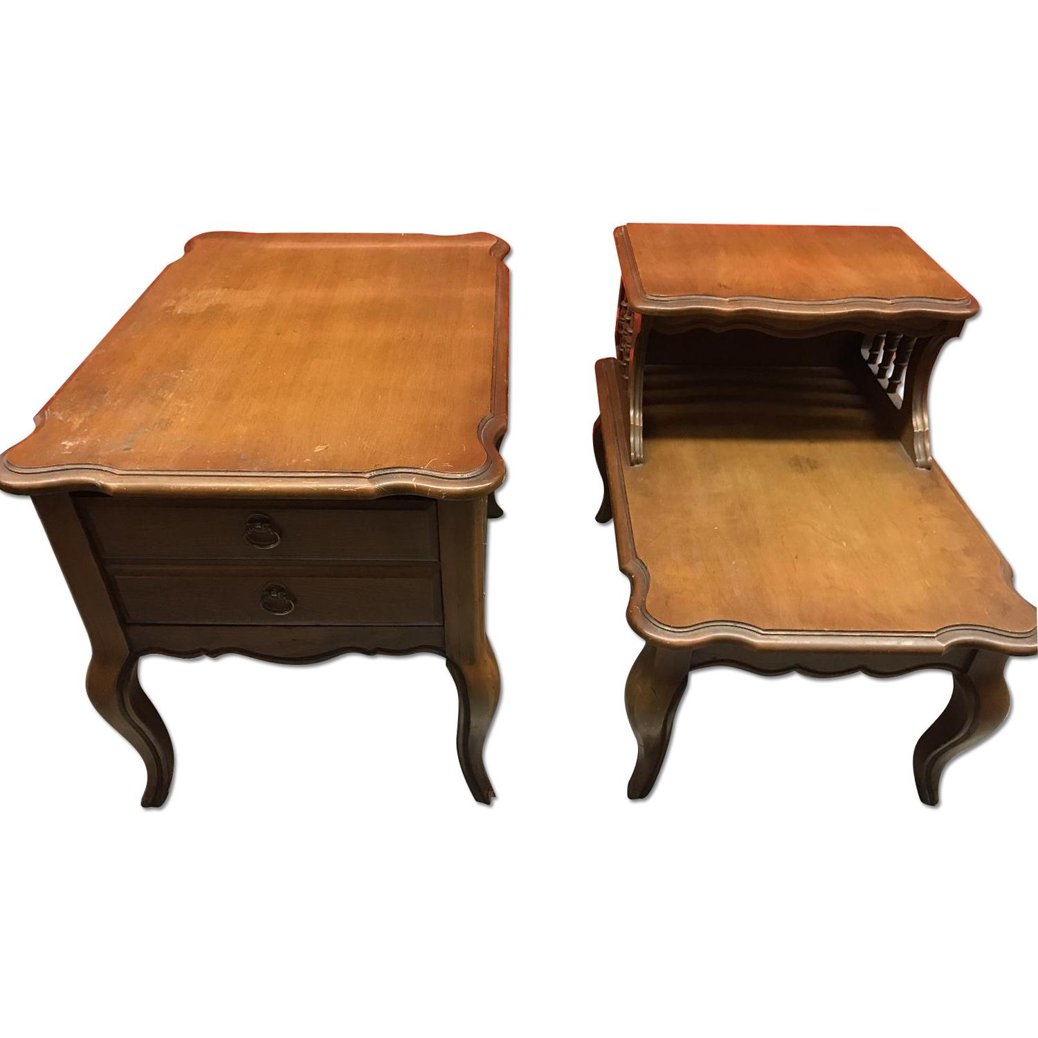 Solid Wood French Provincial End Tables