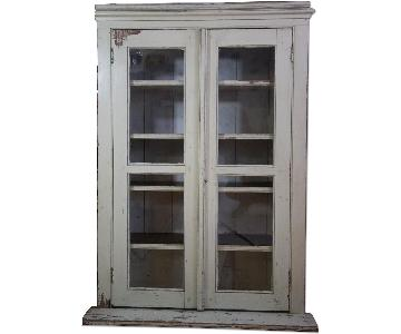 Vintage Farmhouse Bookcase in Creamy White
