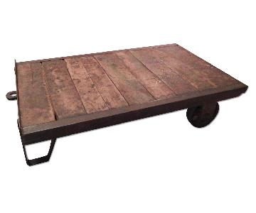 Antique Industrial Coffee Table