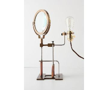 Anthropologie Magnifying Glass Lamp