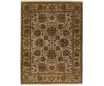 Magnolia Crown Select Rug in Ivory/Gold