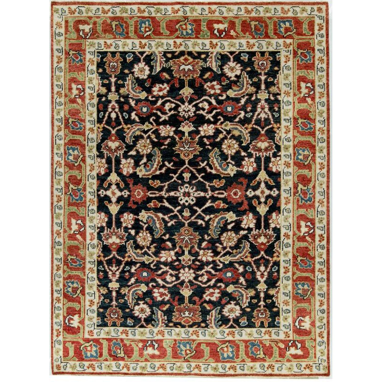 Indo Collection Soho Rug in Blue/Red