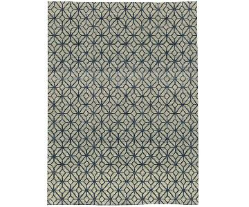 Himalayan Art Rug in Grey/Blue