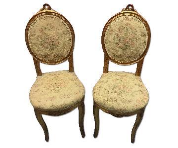 Louis XIV Napoleon Wooden Chairs