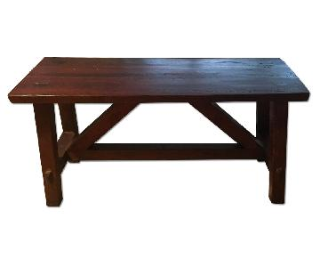 Pottery Barn Wooden Bench