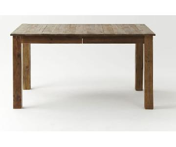 West Elm Expandable Farmhouse Dining Table w 2 Dining Benche