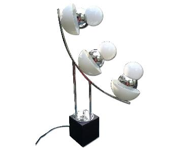 Sculptural Acrylic & Chrome Vernor Patton Table Lamp.