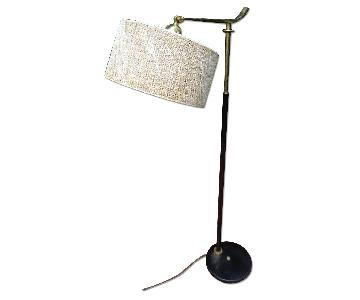 Gerald Thurston Pivoting Floor Lamp w/ Original Shade