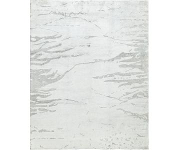 Indo Collection Bamboo Select Rug in White/Silver
