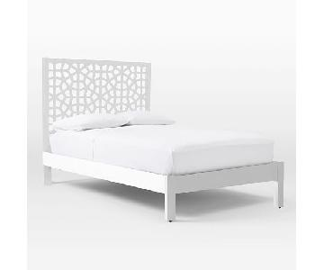West Elm Morocco Queen Size Bed in White