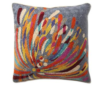 Anthropologie Colorful Firework Decorative Pillow