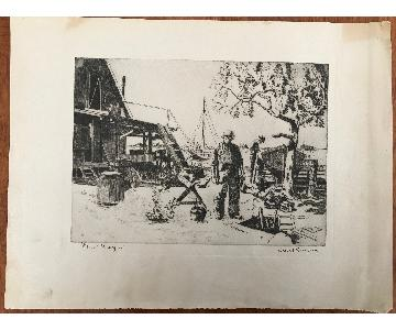 Lionel Barrymore Unframed Etching - Point Magoo