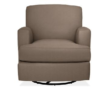 Room & Board Carter Rocking Gliding Chair in Taupe