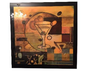 Framed Print - Martini Glass