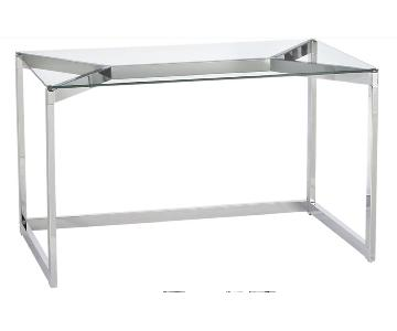 CB2 Tesso Chrome Desk